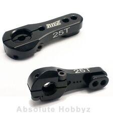 AHZ Aluminum Adjustable Black Servo Horn Single Arm Futaba / Savox (25T)