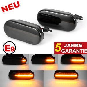 2X-Dynamische-Seitenblinker-Blinker-schwarz-Fuer-VW-GOLF-PASSAT-LUPO-T5-SEAT-LEON