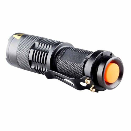 Mini 3 Modes UV LED Zoomable Flashlight Violet Purple Blacklight Torch Lamp