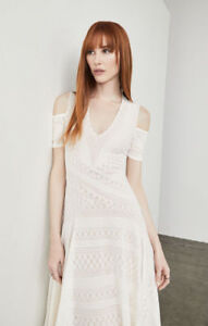 228-New-Women-s-BCBG-Odette-Asymmetrical-Cold-Shoulder-Dress-SZ-XXS-Gardenia
