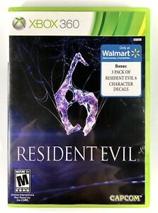 Resident-Evil-6-Microsoft-Xbox-360-2012-with-Wal-Mart-Exclusive-3-Pack-Decals