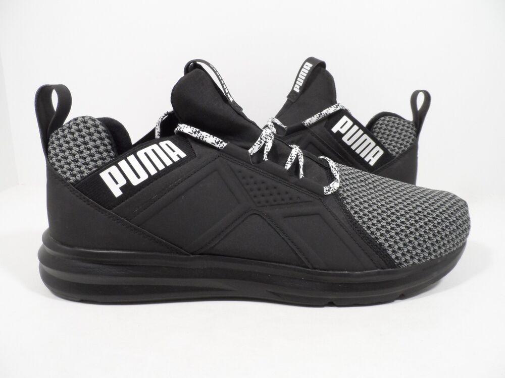 PUMA homme Enzo Terrain Sneaker, Asphalt noir blanc, 13 M US