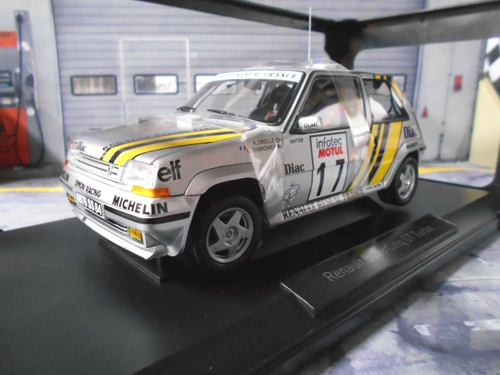 Renault 5 Turbo GT  Rallye Tour de Corse 1989 Taille A  17 Oreille DIAC Norev 1 18  beaucoup de surprises