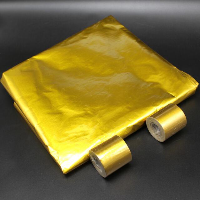 Performance Reflect A Gold Exhaust Manifold Heat Sheild Wrap Reflective Tape