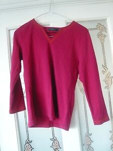 Lovely-deep-pink-cotton-top-by-Boden-size-medium