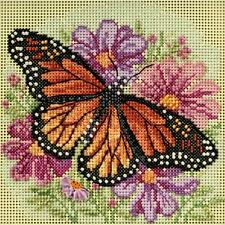 Counted Cross Stitch Kit  WINGED MONARCH  Butterfly   By:  Mill Hill