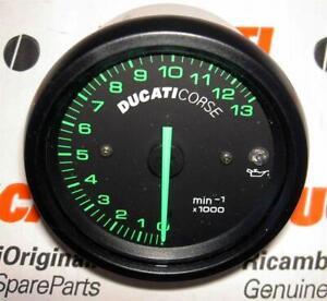 1999-2001 4-valve Ducati Corse brand new tachometer 13,000 RPM green numbers-H