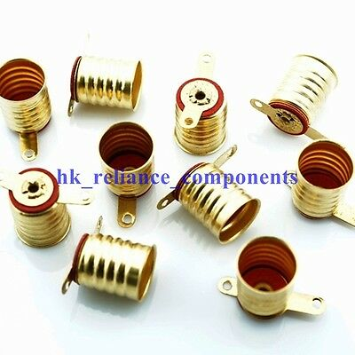 10 pcs E10 LED Bulb Lamp Screw-Sockets PCB Base Mount Holders Brass