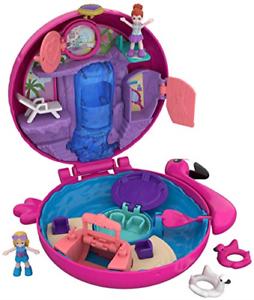 Polly Pocket FRY38 Poche monde Flamingo bouée Compact play set multi-couleur