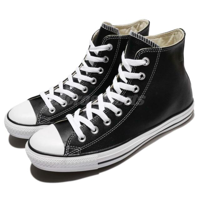 9a3c3c6ef280c Converse Chuck Taylor All Star Hi Black Leather Men Women Sneakers Shoes  132170C