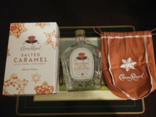EMPTY CROWN ROYAL Limited Edition Salted Caramel Box Bag /& Bottle EMPTY