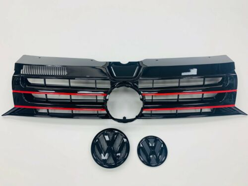 VW T5.1 Gloss Black Red Edition Grille /& Badges 2010-2015 Transporter NEW