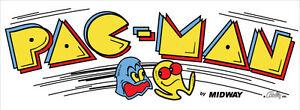 """Pacman (Pac-Man) Dédié Arcade Marquee (disponible en 26"""" X 8"""")"""