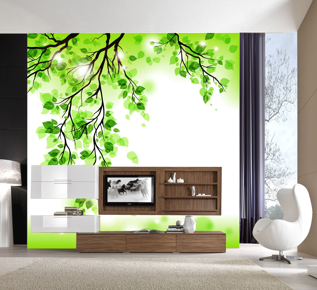 3D Leaves branches 1C Wall Paper Murals Wall Print Decal Wall Deco AJ WALLPAPER