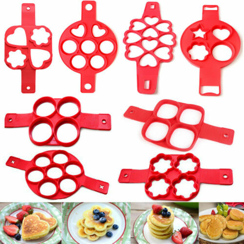Egg Ring Pancakes Maker Cheese Egg Cooker Pan Flip Mold Nonstick Pancake Make UK
