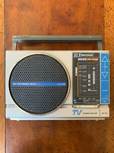 Emerson-AM-FM-TV-Band-Portable-Radio-PM3909-For-Parts-Prop