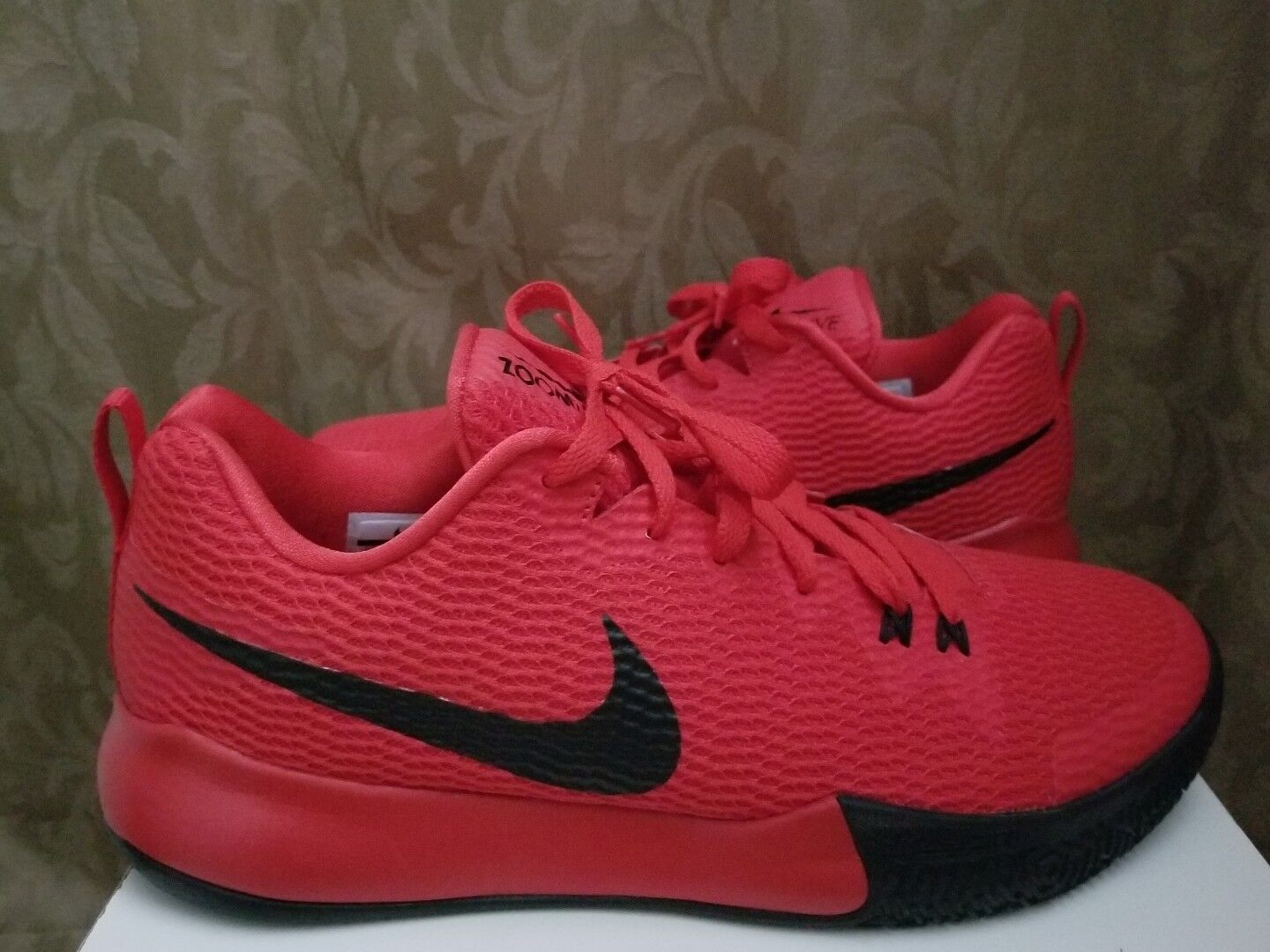 Nike Zoom Live 2 Mens Basketball shoes Red Red Red Black (SIZE;11.5). 223c00