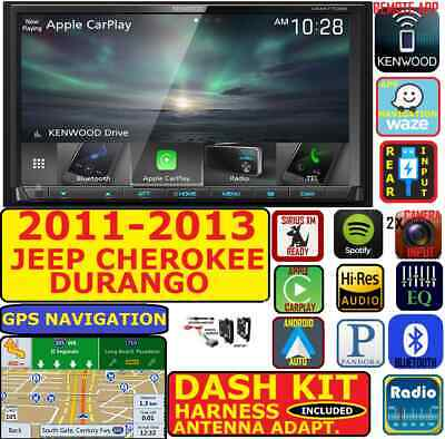 2011-13 GRAND CHEROKEE DURANGO APPLE CARPLAY ANDROID AUTO BLUETOOTH PACKAGE