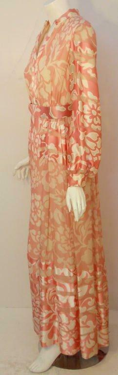 CEIL CHAPMAN 1960s Pink and White Silk Chiffon Go… - image 5
