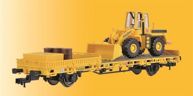 Kibri 26274 bassa bordo carrello con cantiere gleisbau e scaricare, modello finito, h0