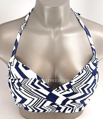 New Victoria/'s Secret Swim Black White Cheetah Dot Wrap Halter Bikini Top