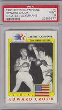 RARE 1983 TOPPS OLYMPIANS EDWARD CROOK CARD #4 ~ BOXING ~ PSA 9 ~ONLY ONE HIGHER
