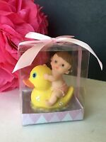 12 Baby Shower Girl Duck Favors Party Decorations Animals Figurines Jungle Pato