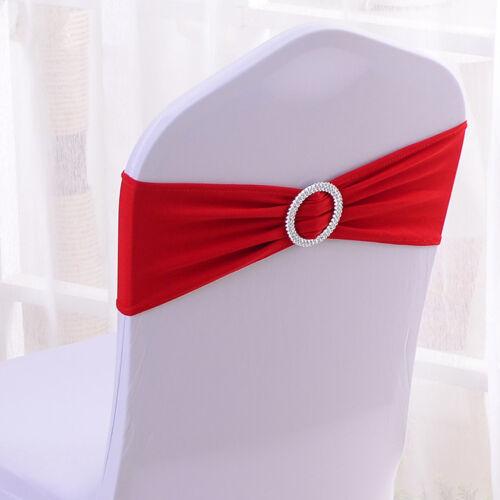 Chair Sashes Stretch Band Sash Bow Wedding Birthday Banquet Decor 50 pcs