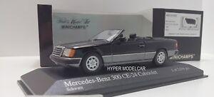 Minichamps 1/43 Mercedes Classe E 300 Ce-24 Cabriolet 1990 Noir Art.400037030