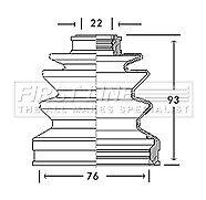 CV Joint BOOT Kit pour HONDA CR-V FCB2662