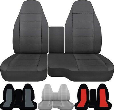 04 12 Ford Ranger Car Truck Seat Covers Front 60 40 With Center Console Ebay