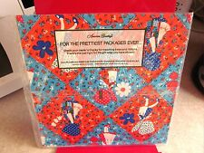 HOLLY HOBBY vtg gift wrap 1976 brand new wrapping-paper NWT rag-doll kids books