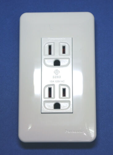 10 Panasonic AC Receptacle WNF-4602K WNF 4602K 3P 15A AC125V 2 Way Plastic Panel