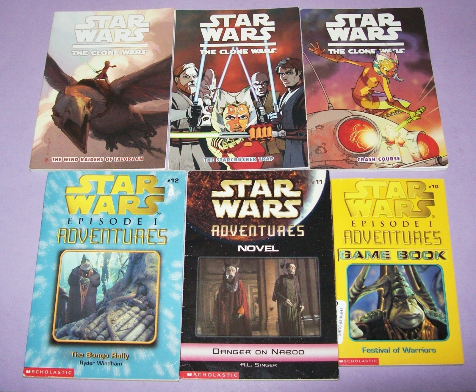 Star Wars Book Lot- The Bongo Rally, Festival of Warriors, Danger on Naboo,+More
