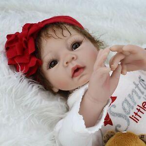 "Reborn Baby Dolls 22"" Lifelike Newborn Babies Soft Vinyl Silicone Baby Girl Doll"