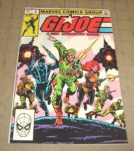 GI JOE #4 (1st Print Oct 1982) VF- Condition Comic - G.I. JOE - Herb Trimp Art