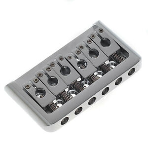 6-String-Hardtail-Hard-Tail-Bridge-Fixed-for-Electric-Guitar-Parts-Chrome