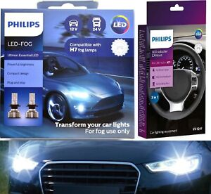 Philips-Ultinon-LED-40W-Canceller-H7-Two-Bulbs-Fog-Light-Replacement-Upgrade-Fit