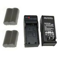 2 Batteries+charger For Canon Digital Rebel Ds6041 Pro90 Is Pro 1 G1 G2 G3 G5 G6