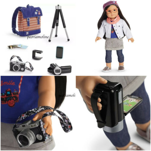 American Girl Z Yang FILMING ACCESSORIES~ Camera Equipment~Photography~Backpack