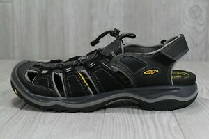 new product 8c057 254ed Details about 40 KEEN Men's Rialto H2 Outdoor Sandal Water Shoes Black  Gargoyle 11.5 1014672