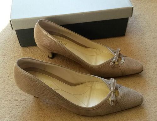 rrp 5 Van Loren Dal 5 Court Lizard Uk D £ 75 Larghezza Print Taupe Shoes TxRAq7wx