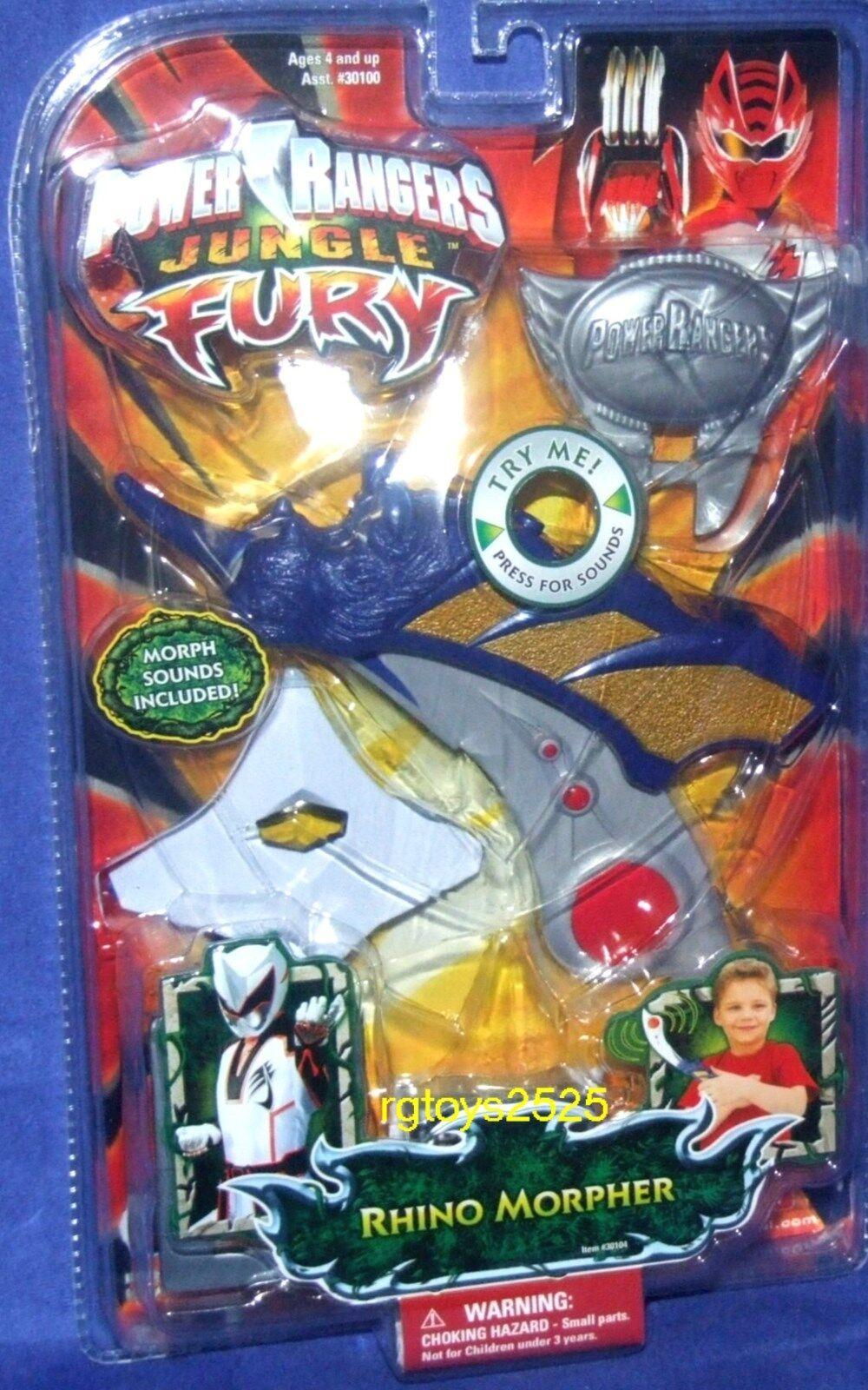 Power Rangers Jungle Fury RHINO MORPHER New Factory Sealed 2008