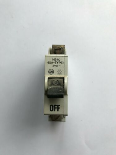 WYLEX NB05 NB15 NB30 NB40 Type 2 MCB Circuit Breakers