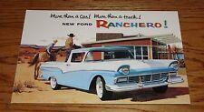1957 Ford Truck Ranchero Pickup Foldout Sales Brochure 57