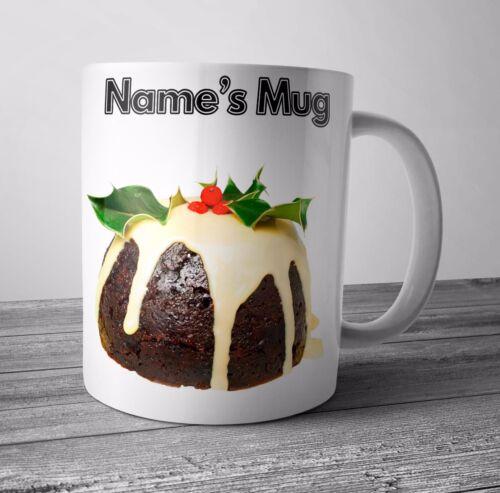 Personnalisé Tasse Noël Pudding de Noël Cadeau Secret Santa-Tout nom