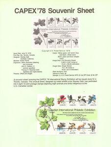 #7814 13c CAPEX Wildlife Stamps #1757 USPS Souvenir Page
