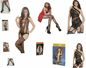 Women-039-s-Stockings-Fish-Net-Floral-Tights-Full-Body-Stocking-Girls-Black-Tights