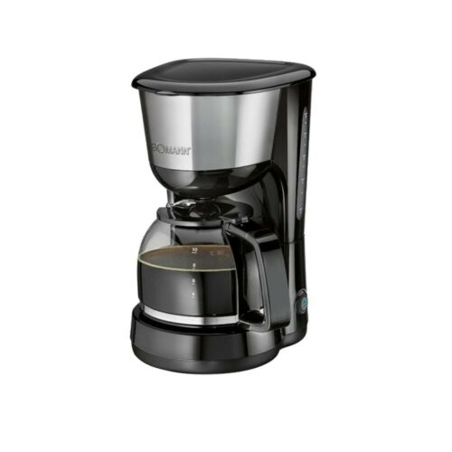 1000W Coffee Maker Filter Coffee Holding Plate 8-10 cups Automatic Black inox
