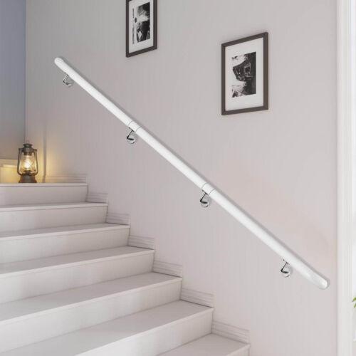Stair Handrail Stair Rail Aluminum Indoor Handrail for Stairs 3-16/' White 200lbs